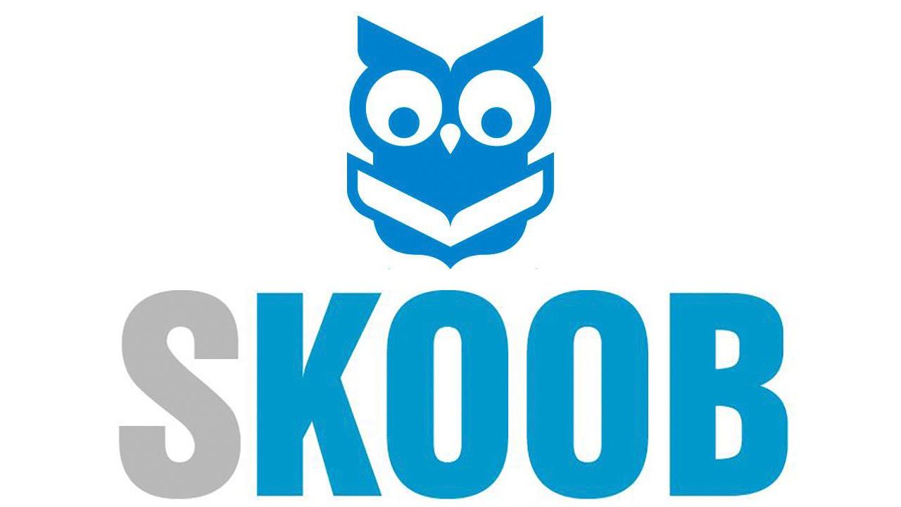 Logotipo do Skoob, minha estante de livros e metas de leitura.