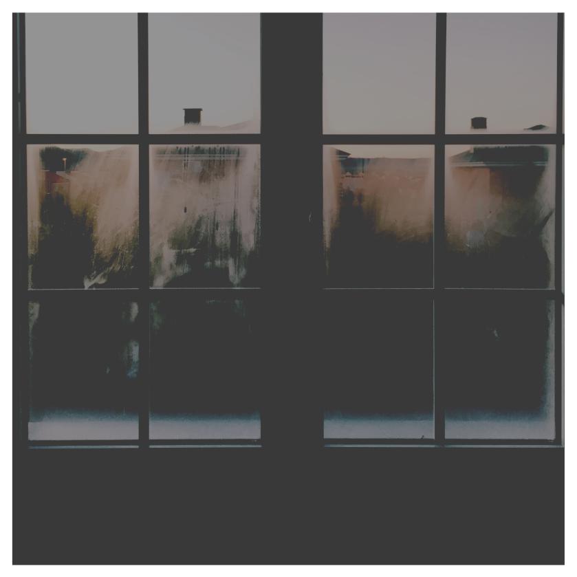 Foto da visão através de uma janela.