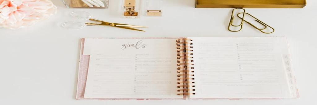 Agenda para organizar hábitos.